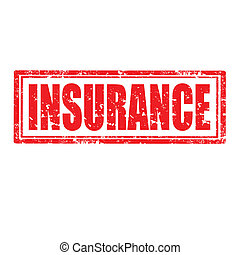 Insurance-stamp - Grunge rubber stamp with word...