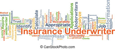 Insurance underwriter background concept
