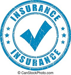 Insurance vector stamp