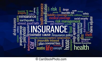 Insurance Word Cloud concept illustration