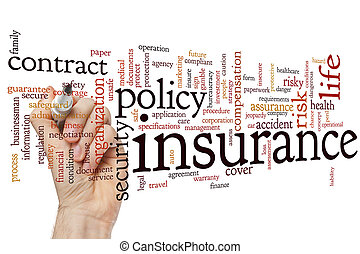 Insurance word cloud - Insurance concept word cloud...