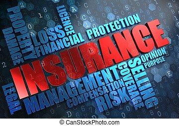 insurance., wordcloud, concept.