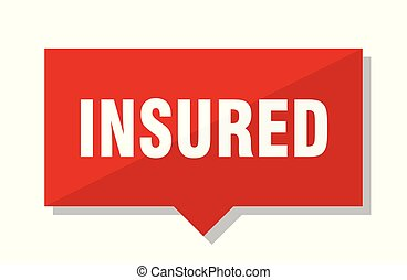 insured red tag - insured red square price tag