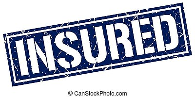 insured square grunge stamp