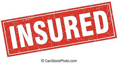 insured square stamp