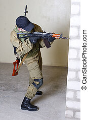 insurgent with AK 47