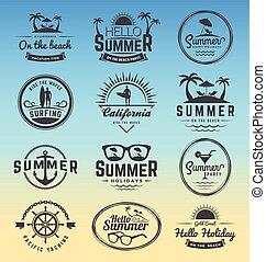 insygnia, lato, nowoczesny, retro, ferie