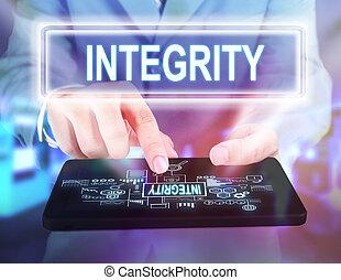 intégrité, motivation, concept, mots, citations