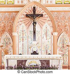 intérieur, église