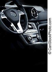 intérieur, élégant, moderne, voiture
