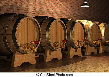 intérieur, établissement vinicole
