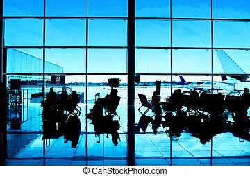 intérieur, aéroport