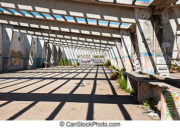 intérieur, abandonnés, usine