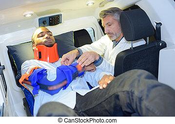 intérieur, ambulance