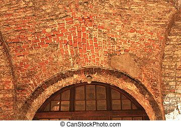 intérieur, ancien, construction