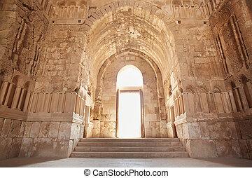 intérieur, ancien, palais, amman