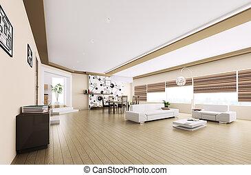 intérieur, appartement, moderne