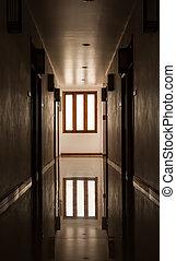 intérieur, appartement,  passage
