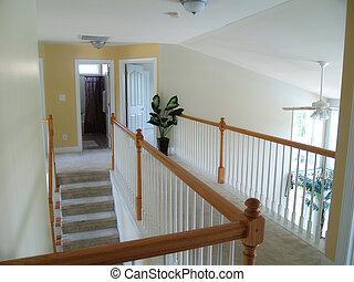 escalier moquett vertical escalier rampe moquett bois home moderne bas visible. Black Bedroom Furniture Sets. Home Design Ideas
