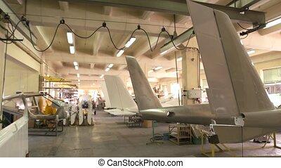 intérieur, avion, workshop.