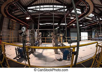 intérieur bâtiment, industriel