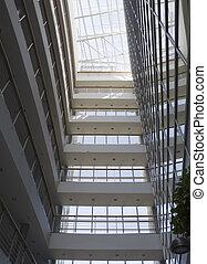 intérieur, bâtiment, moderne, bureau