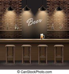 intérieur, barre, pub