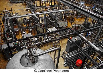 intérieur, bière, usine