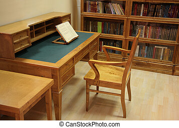 intérieur, bibliothèque