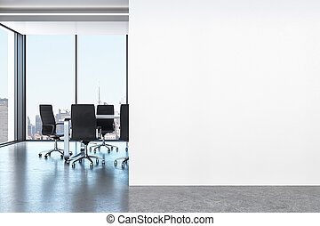 intérieur, blanc, bureau