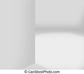 intérieur, blanche salle, fond