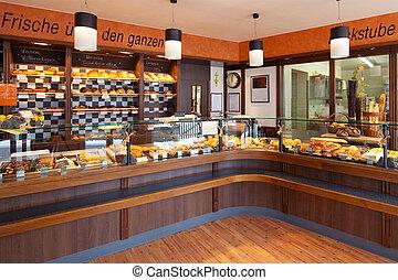 intérieur, boulangerie, moderne