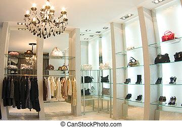 intérieur, boutique