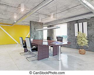 intérieur bureau, moderne