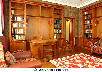 intérieur bureau, salle, maison