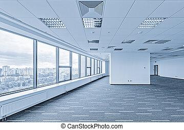intérieur, bureau, vide, bâtiment., nouveau