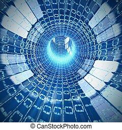 intérieur, câble, internet