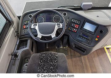 intérieur, camion