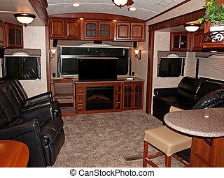 intérieur, camping car