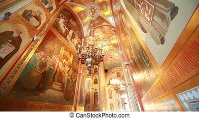 intérieur, cathédrale, christ, sauveur, passage