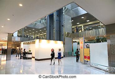 intérieur, centre, business