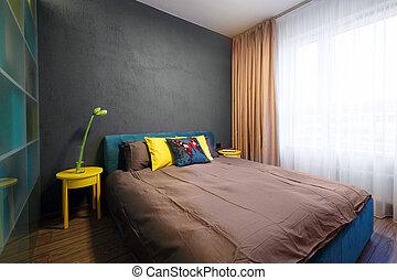 intérieur, chambre à coucher, -
