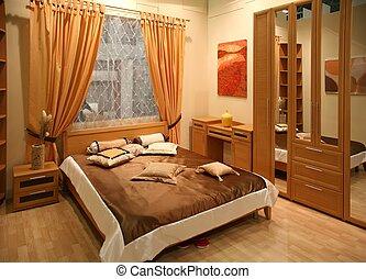 intérieur, chambre à coucher