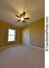 intérieur, chambre à coucher, récemment, construit, supplémentaire