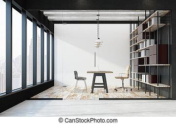 intérieur, clair, bureau