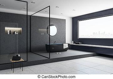 intérieur, clair, salle bains