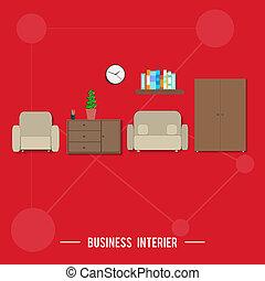 intérieur, concept, business