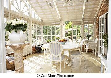 intérieur, conservatoire, moderne