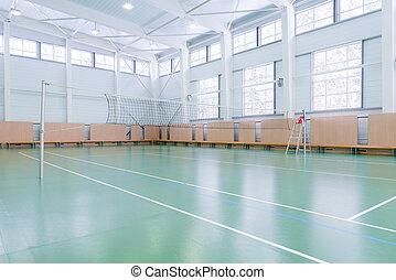 intérieur, court tennis