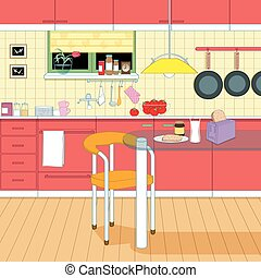 intérieur, cuisine